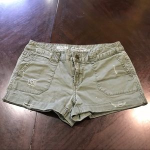 Women's Mossimo Olive Green Cargo Shorts